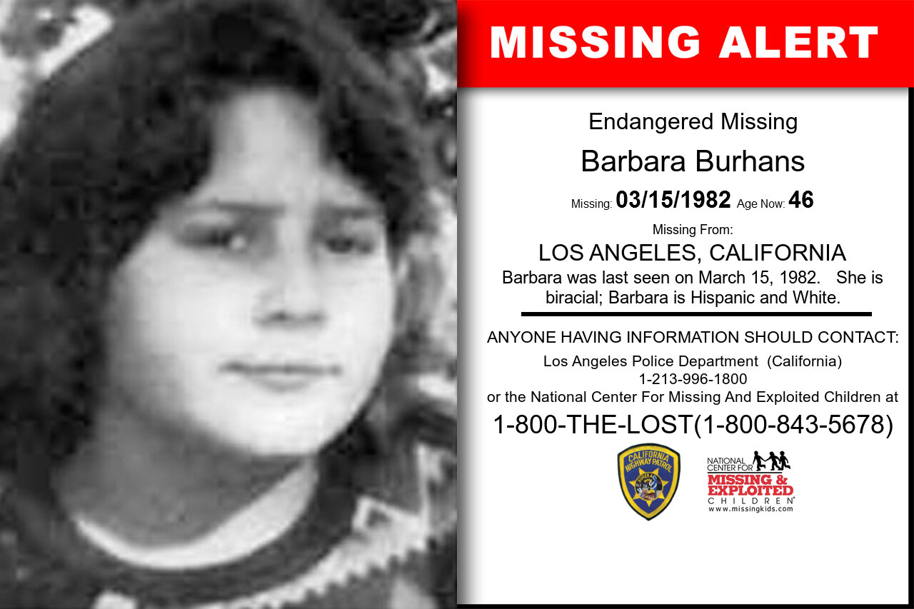 BARBARA_BURHANS missing in California