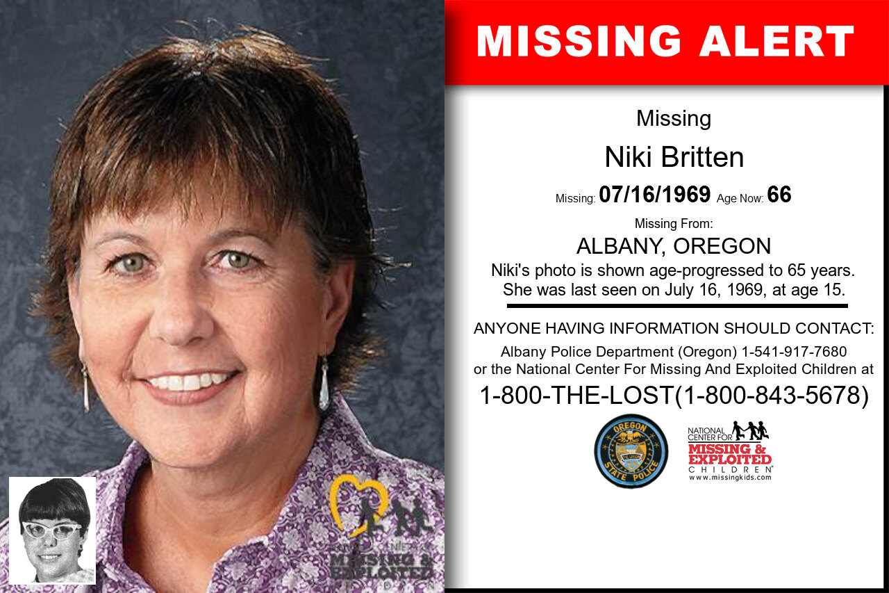 NIKI_BRITTEN missing in Oregon
