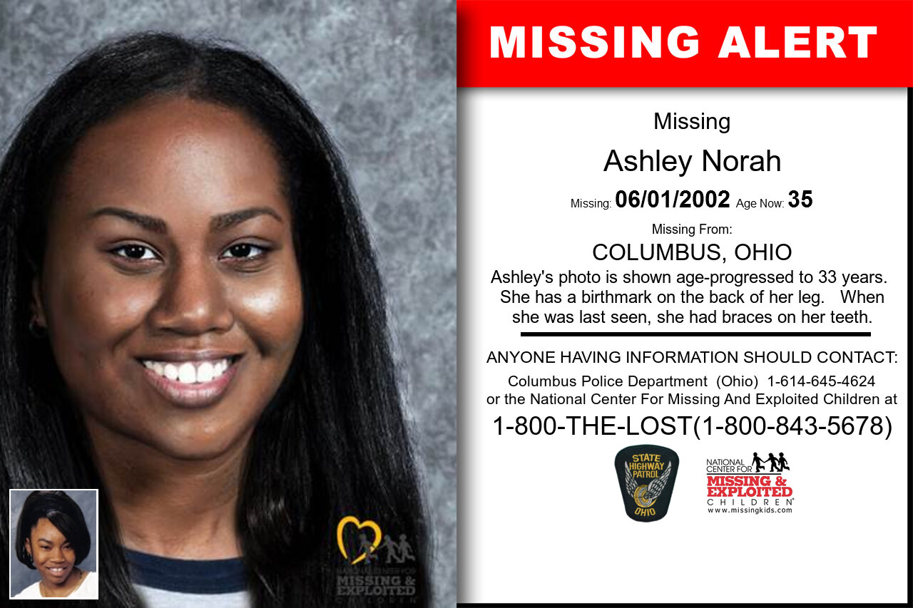 Ashley_Norah missing in Ohio