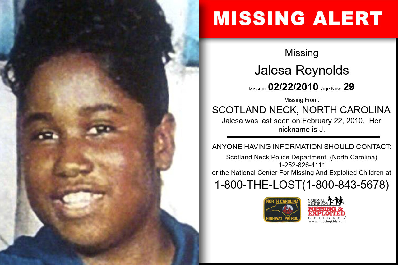 JALESA_REYNOLDS missing in North_Carolina