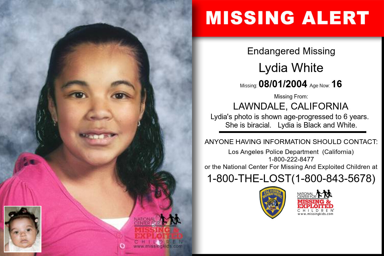 LYDIA_WHITE missing in California