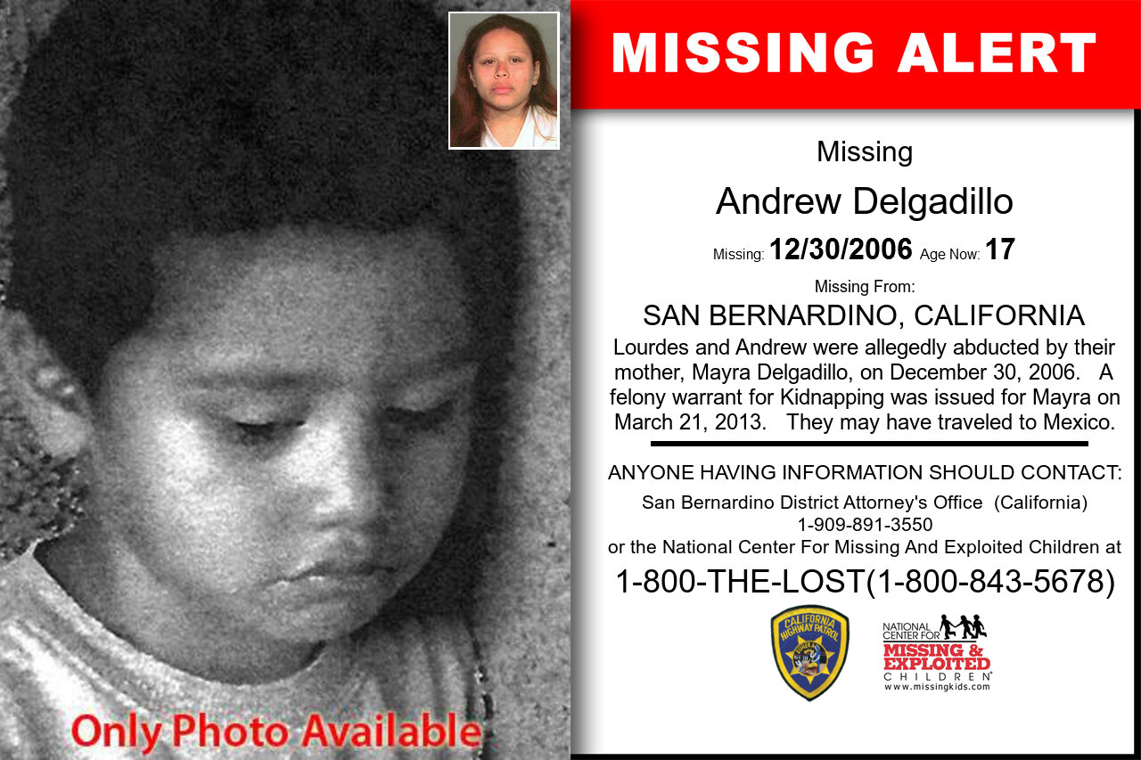 ANDREW_DELGADILLO missing in California