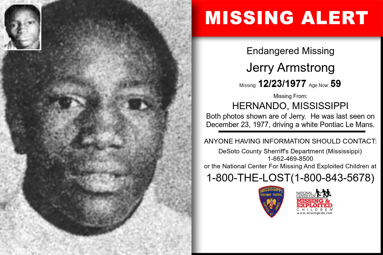 JERRY_ARMSTRONG missing in Mississippi