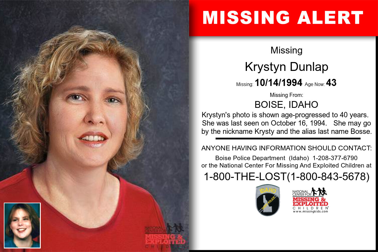 Krystyn_Dunlap missing in Idaho