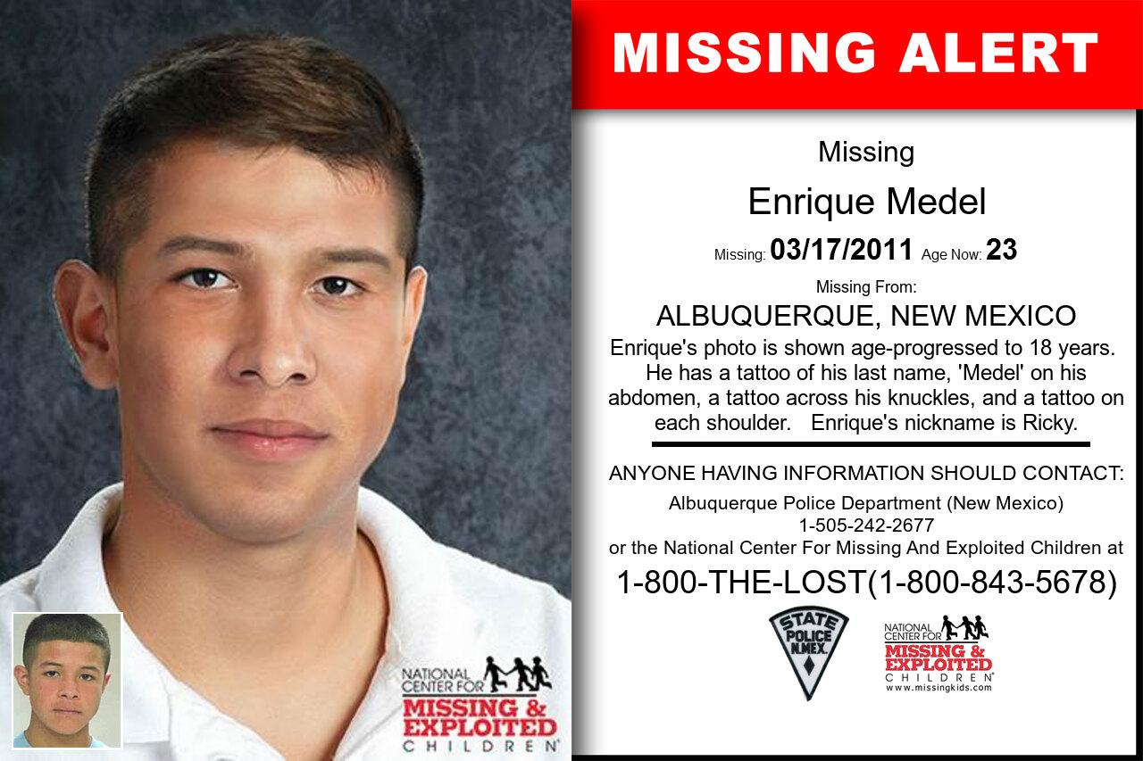 Enrique_Medel missing in New_Mexico