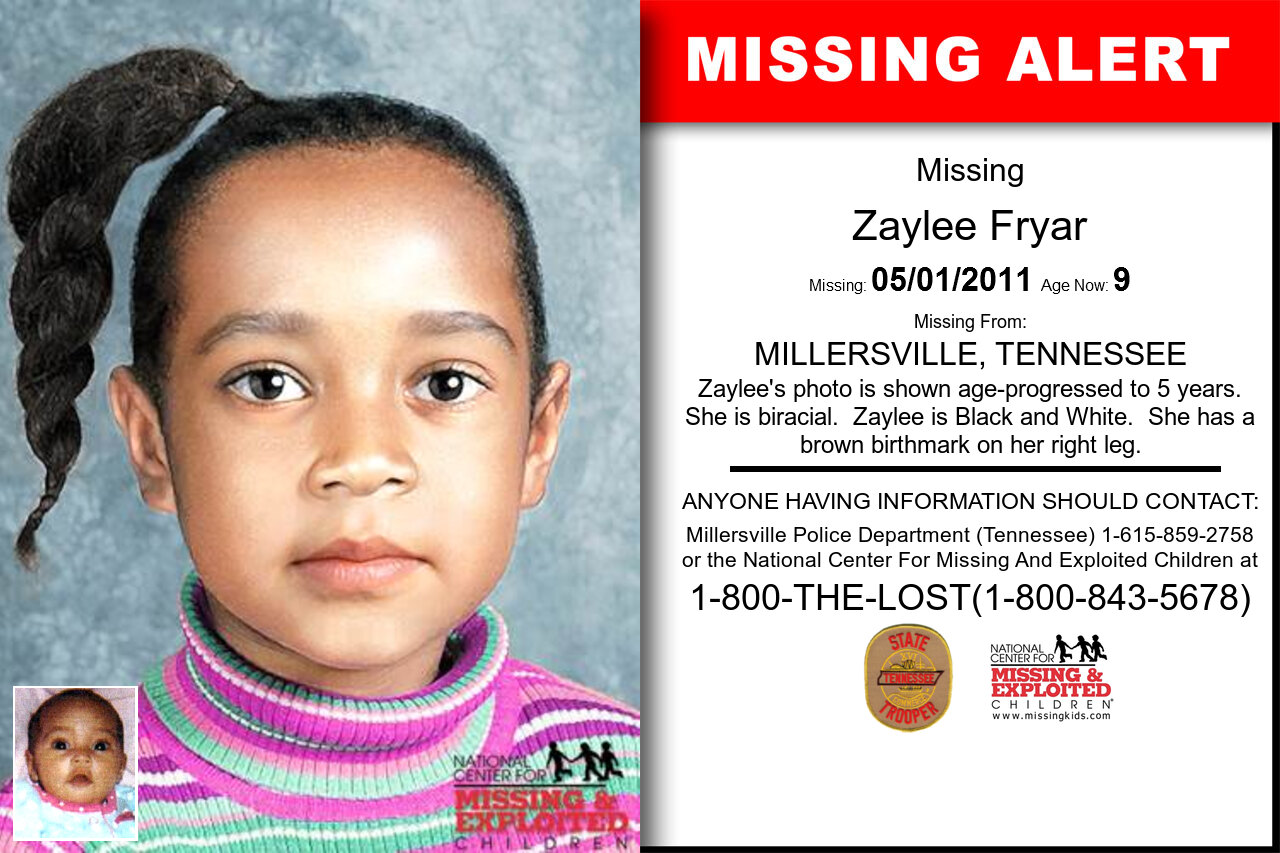 ZAYLEE_FRYAR missing in Tennessee