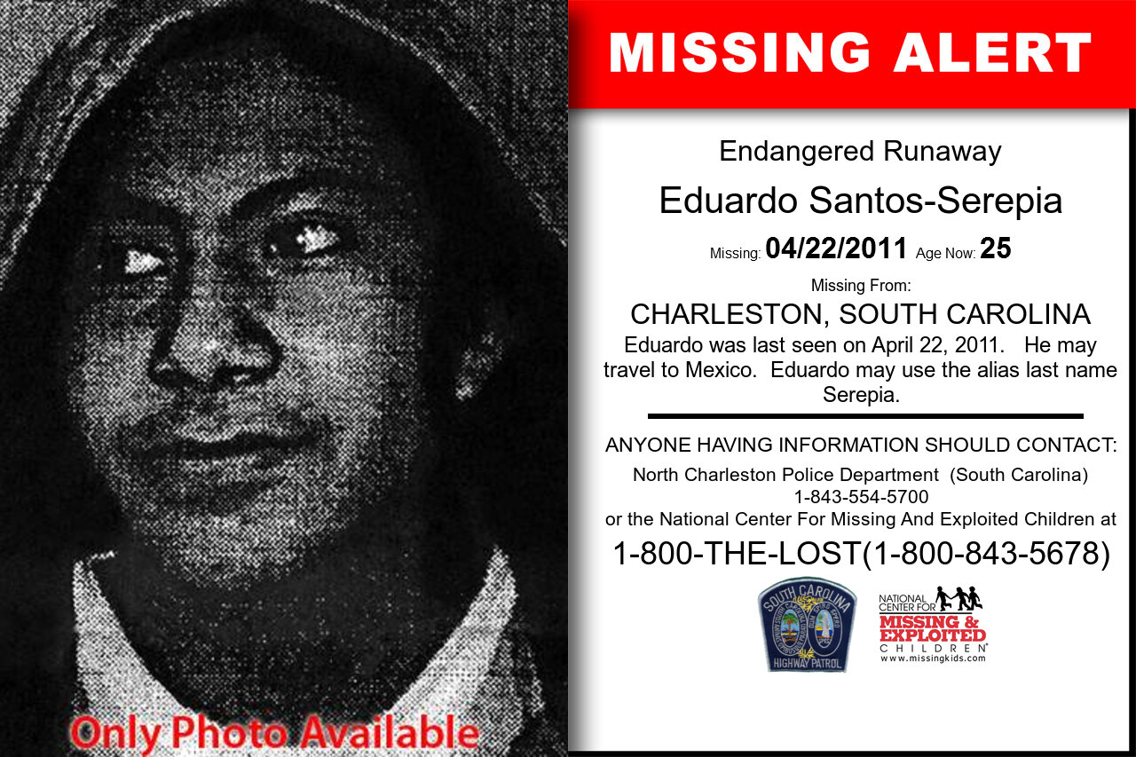 EDUARDO_SANTOS-SEREPIA missing in South_Carolina