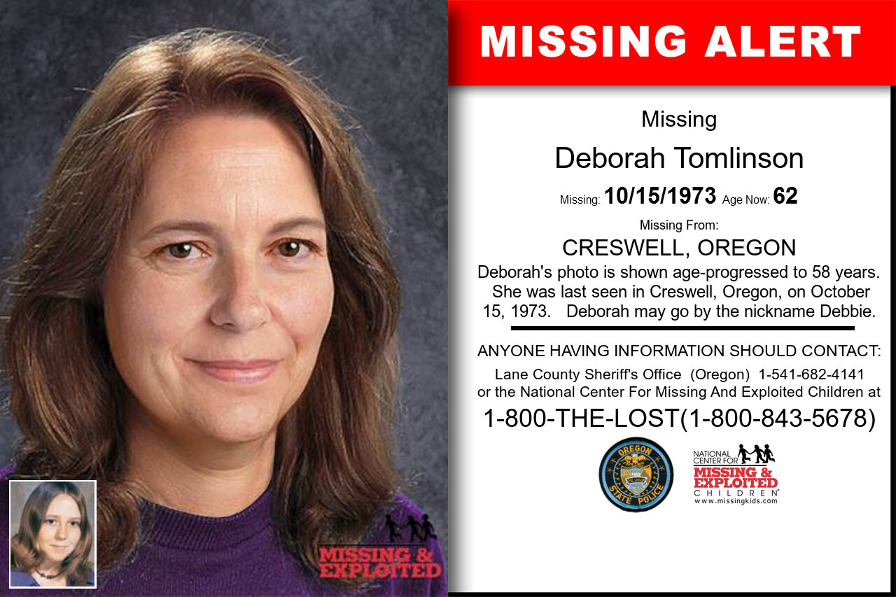 DEBORAH_TOMLINSON missing in Oregon