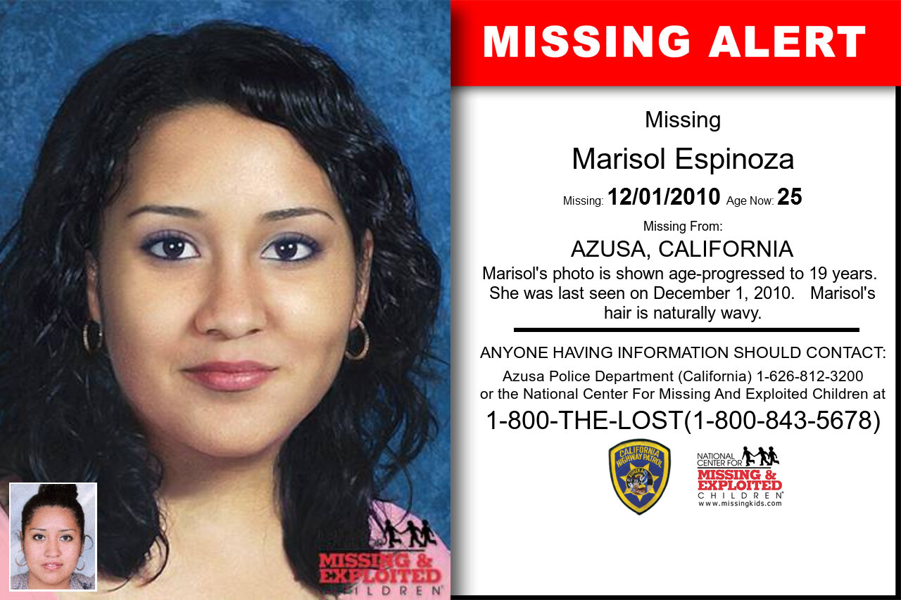 MARISOL_ESPINOZA missing in California