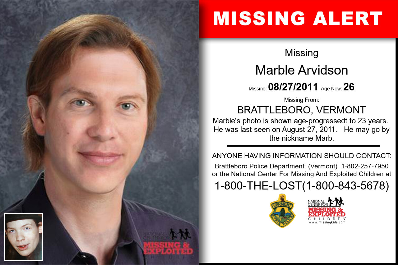 MARBLE_ARVIDSON missing in Vermont