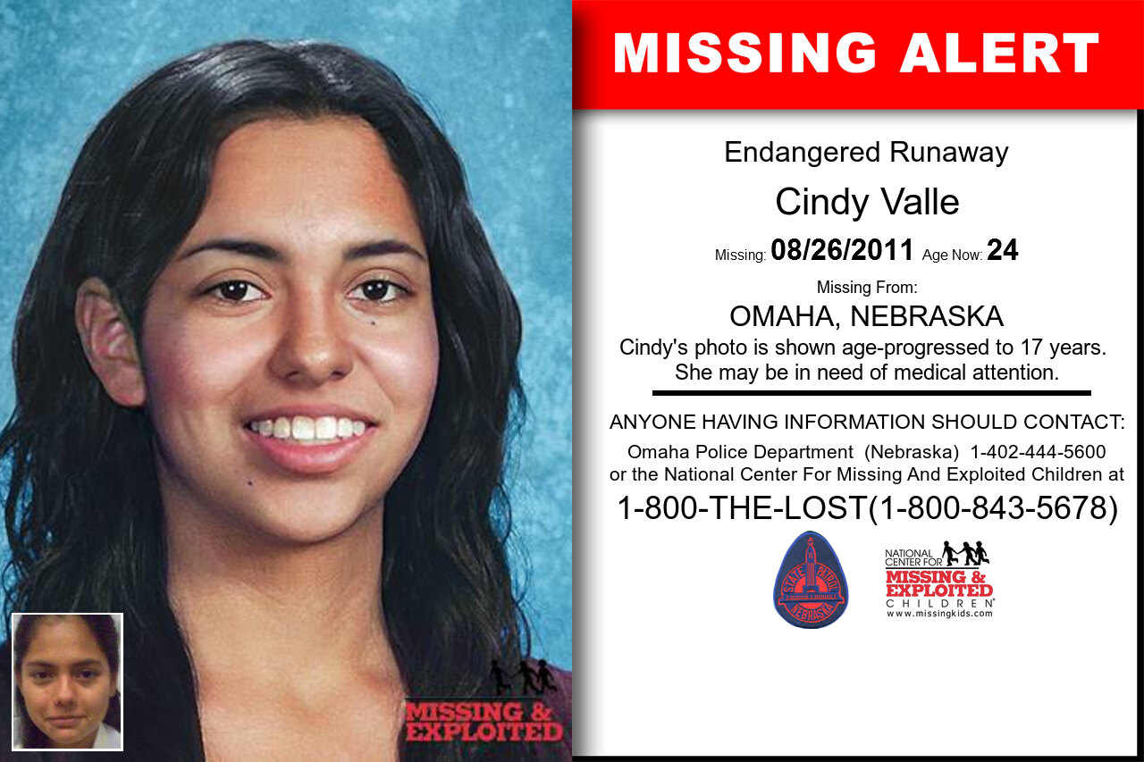 CINDY_VALLE missing in Nebraska
