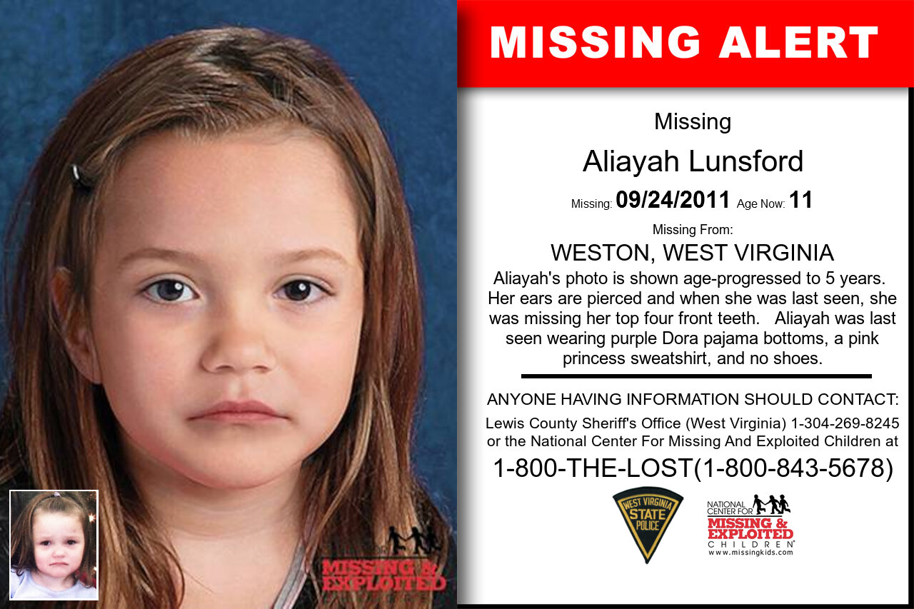 ALIAYAH_LUNSFORD missing in West_Virginia