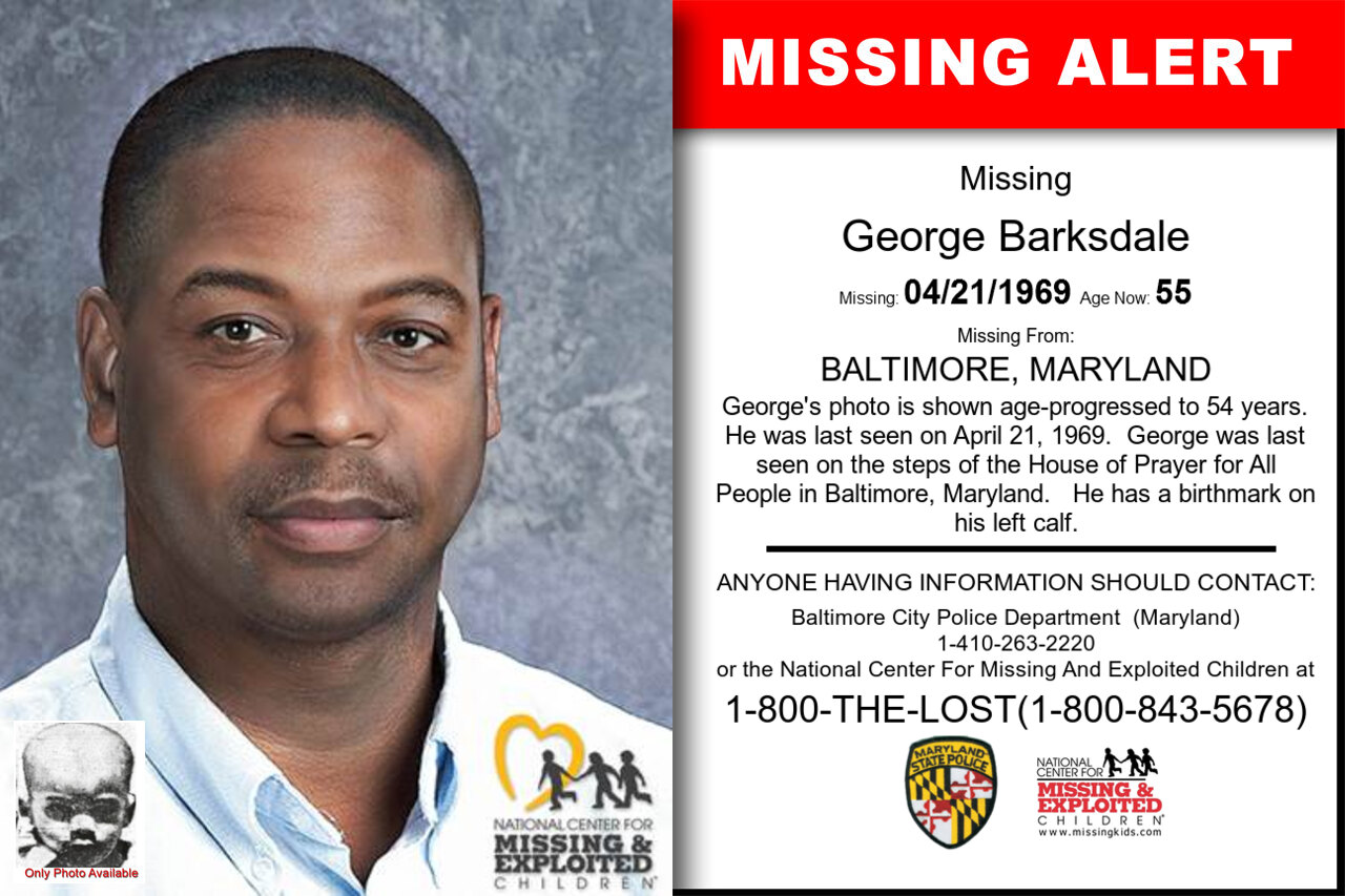 GEORGE_BARKSDALE missing in Maryland
