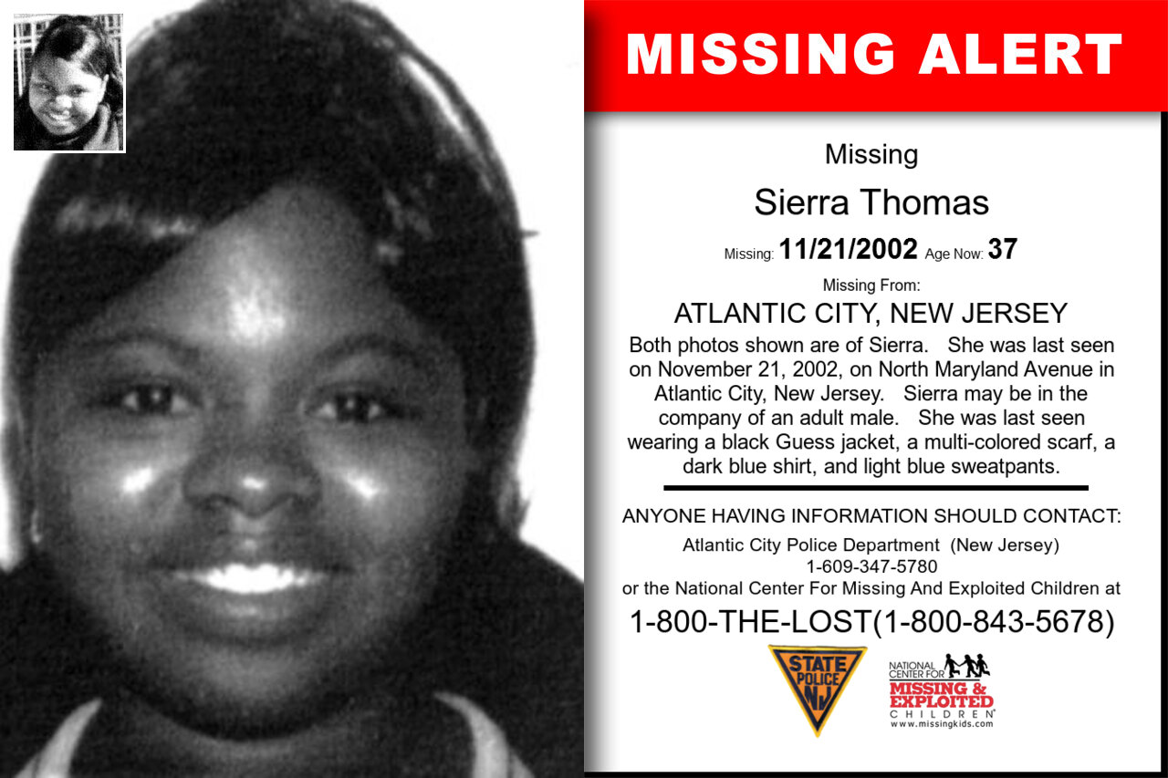 Sierra_Thomas missing in New_Jersey