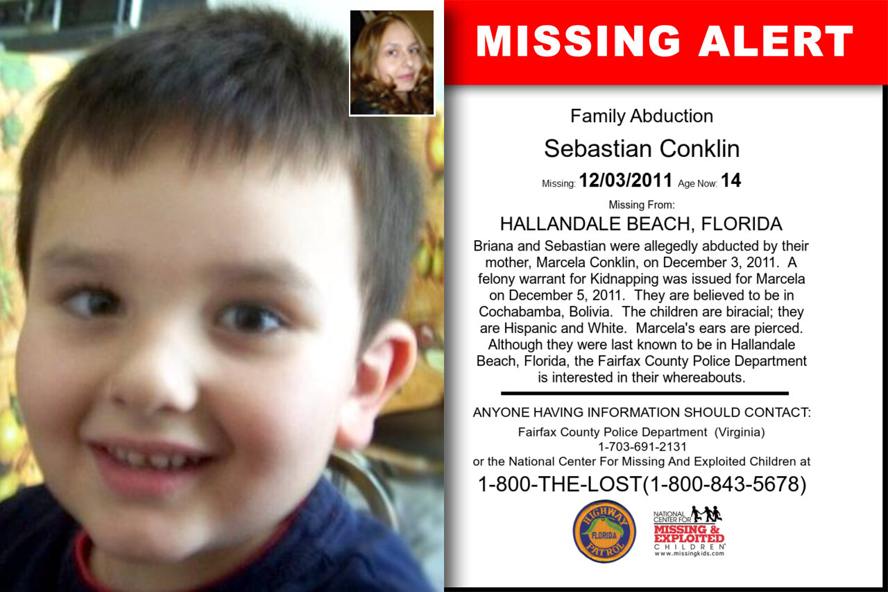 SEBASTIAN_CONKLIN missing in Florida