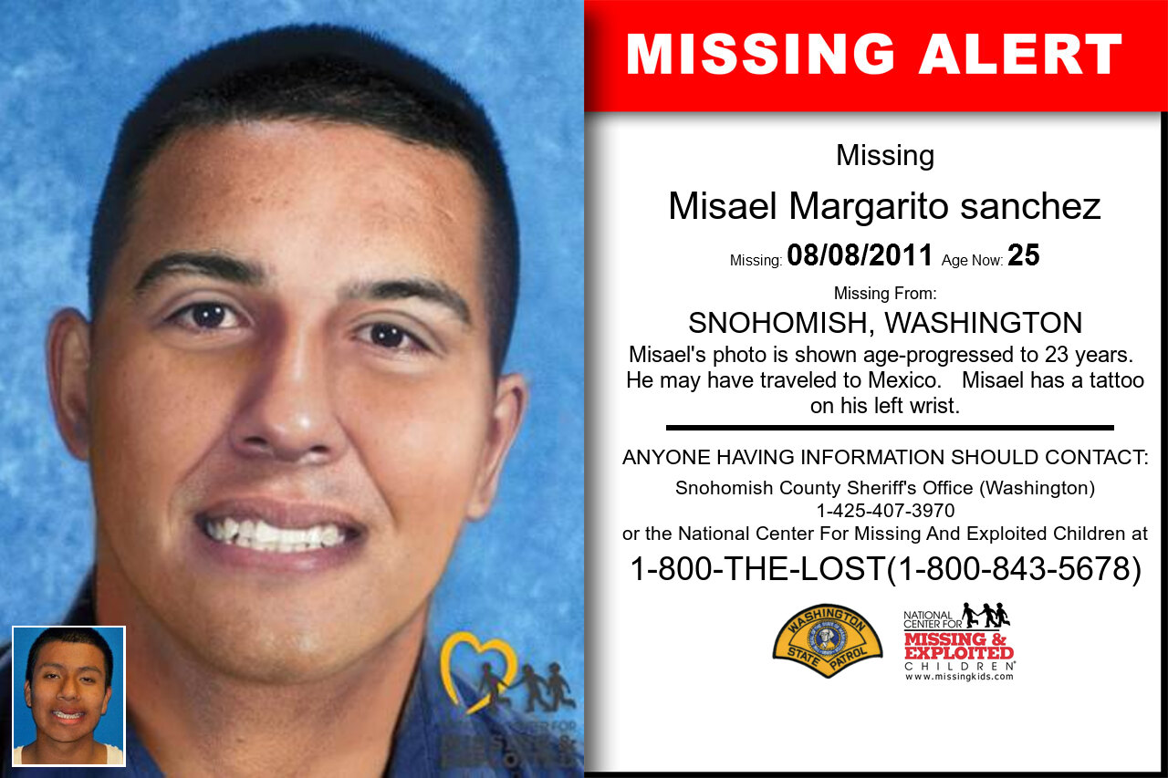 MISAEL_MARGARITO_SANCHEZ missing in Washington