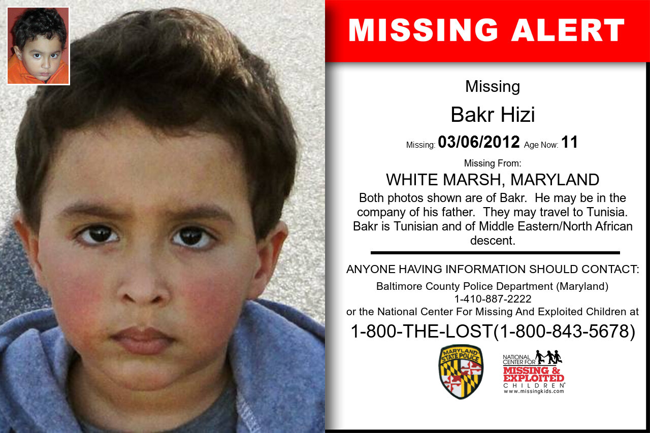 BAKR_HIZI missing in Maryland