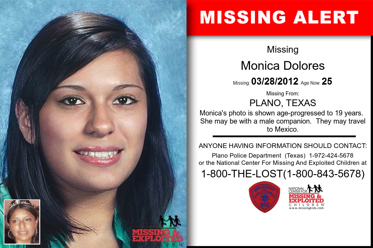 Monica_Dolores missing in Texas