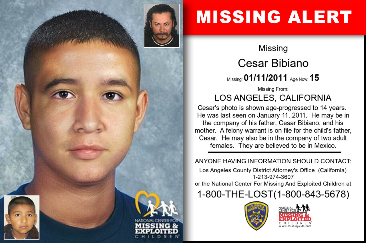 Cesar_Bibiano missing in California