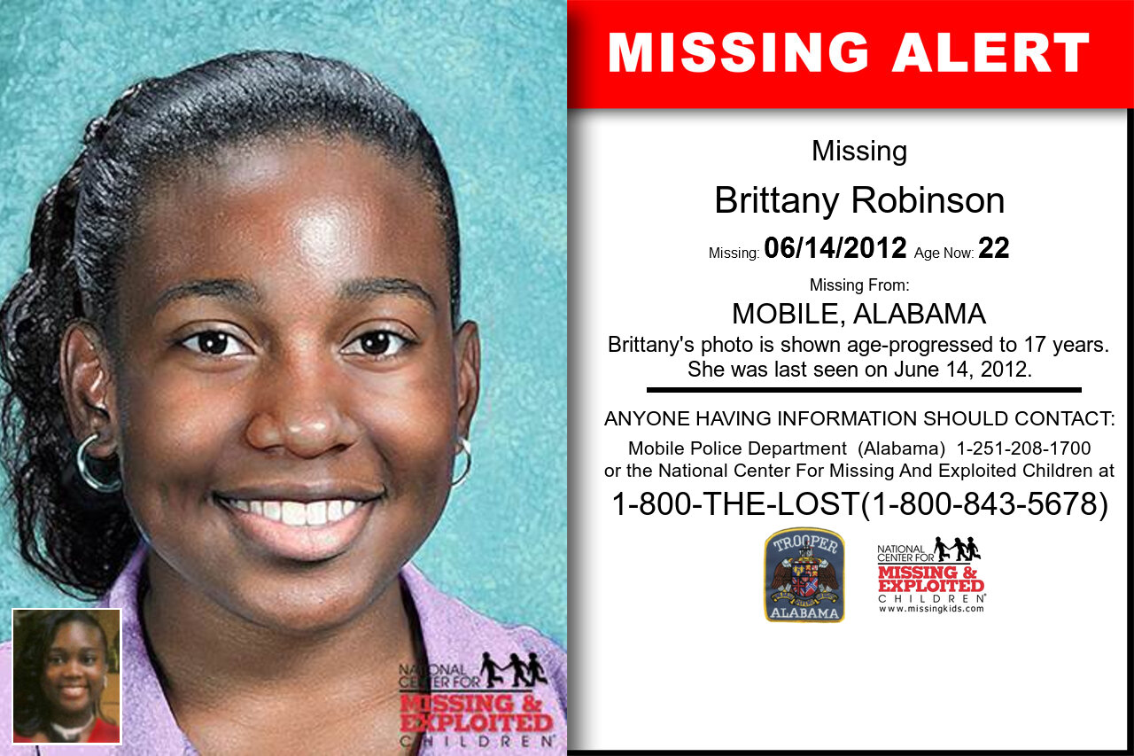 BRITTANY_ROBINSON missing in Alabama