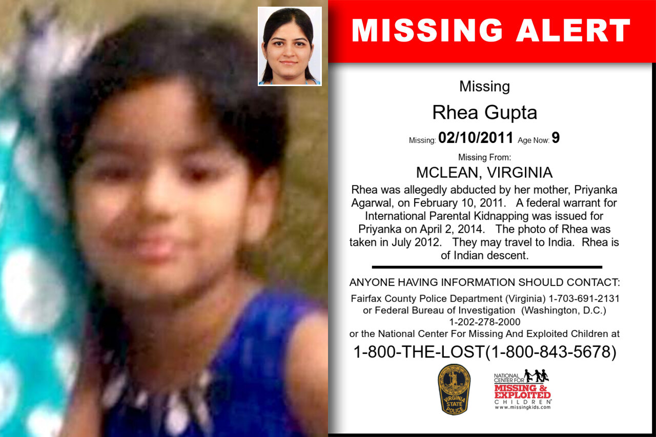Rhea_Gupta missing in Virginia