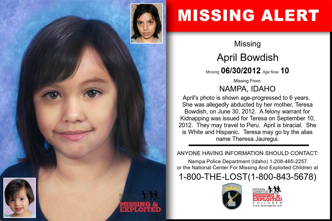 April_Bowdish missing in Idaho