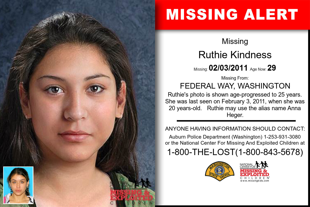 Ruthie_Kindness missing in Washington