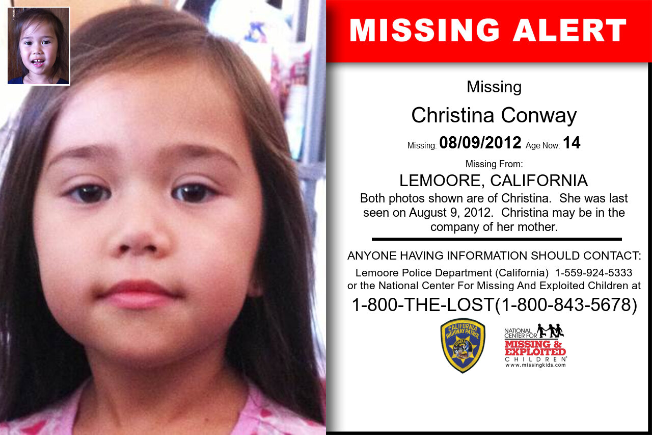 CHRISTINA_CONWAY missing in California