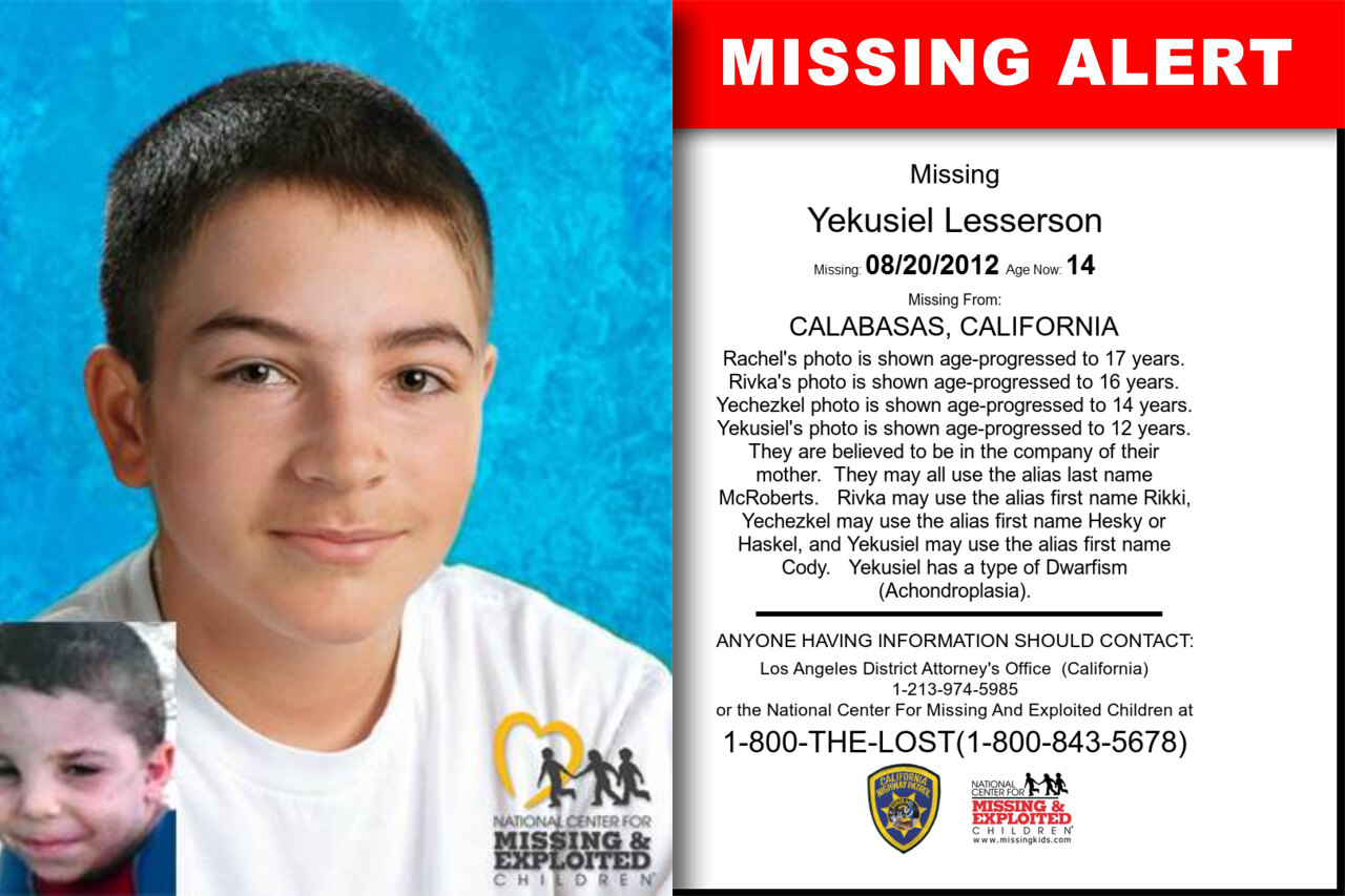 Yekusiel_Lesserson missing in California