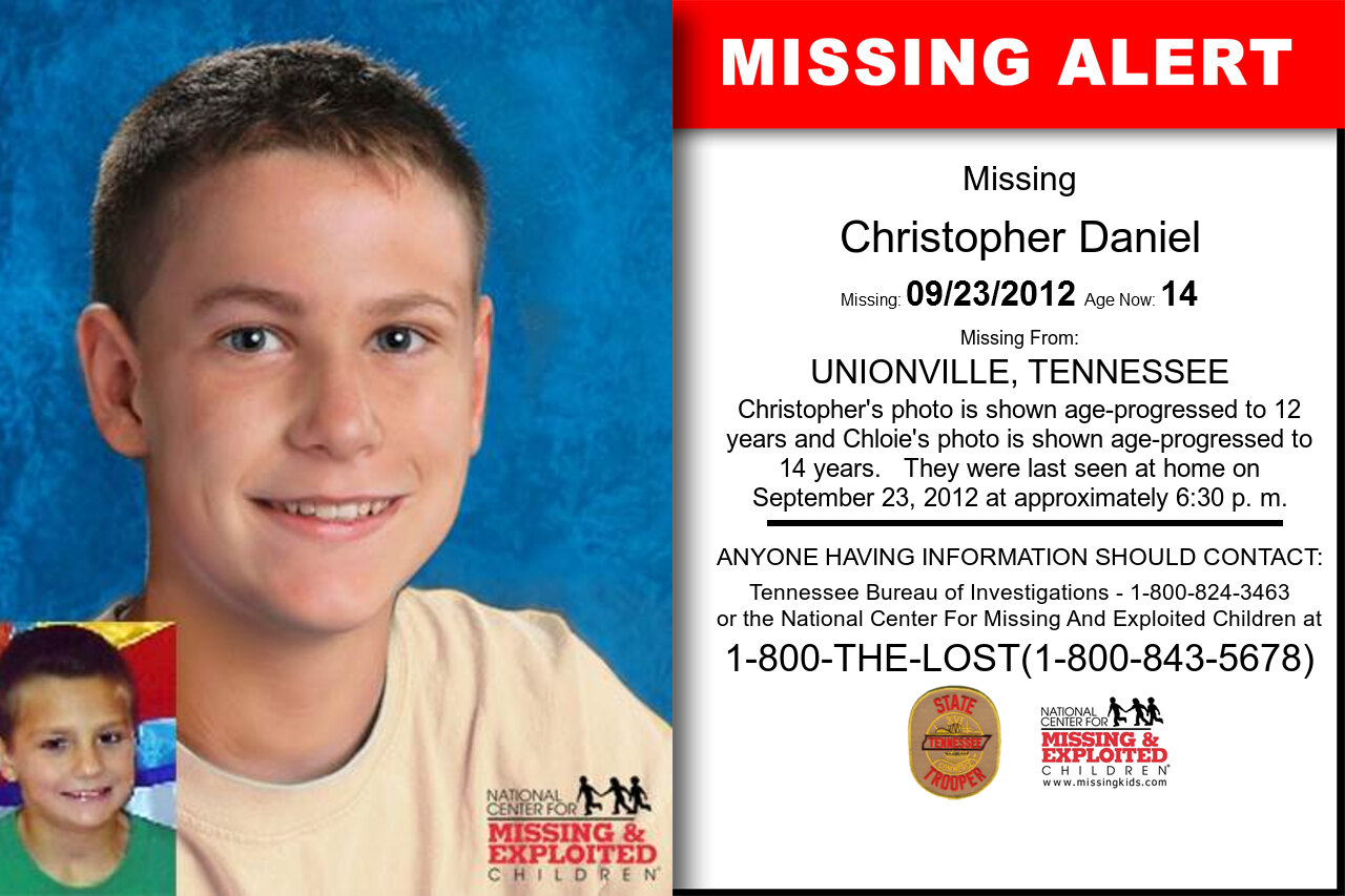Christopher_Daniel missing in Tennessee