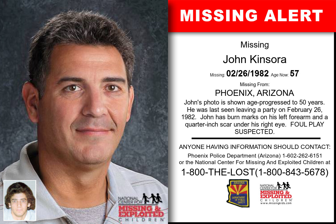 JOHN_KINSORA missing in Arizona