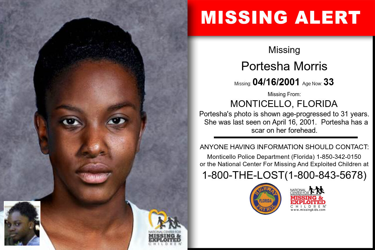 PORTESHA_MORRIS missing in Florida
