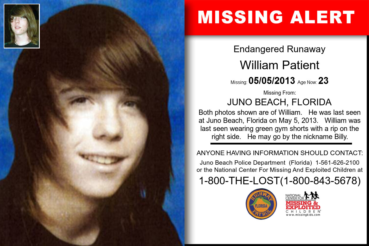 WILLIAM_PATIENT missing in Florida