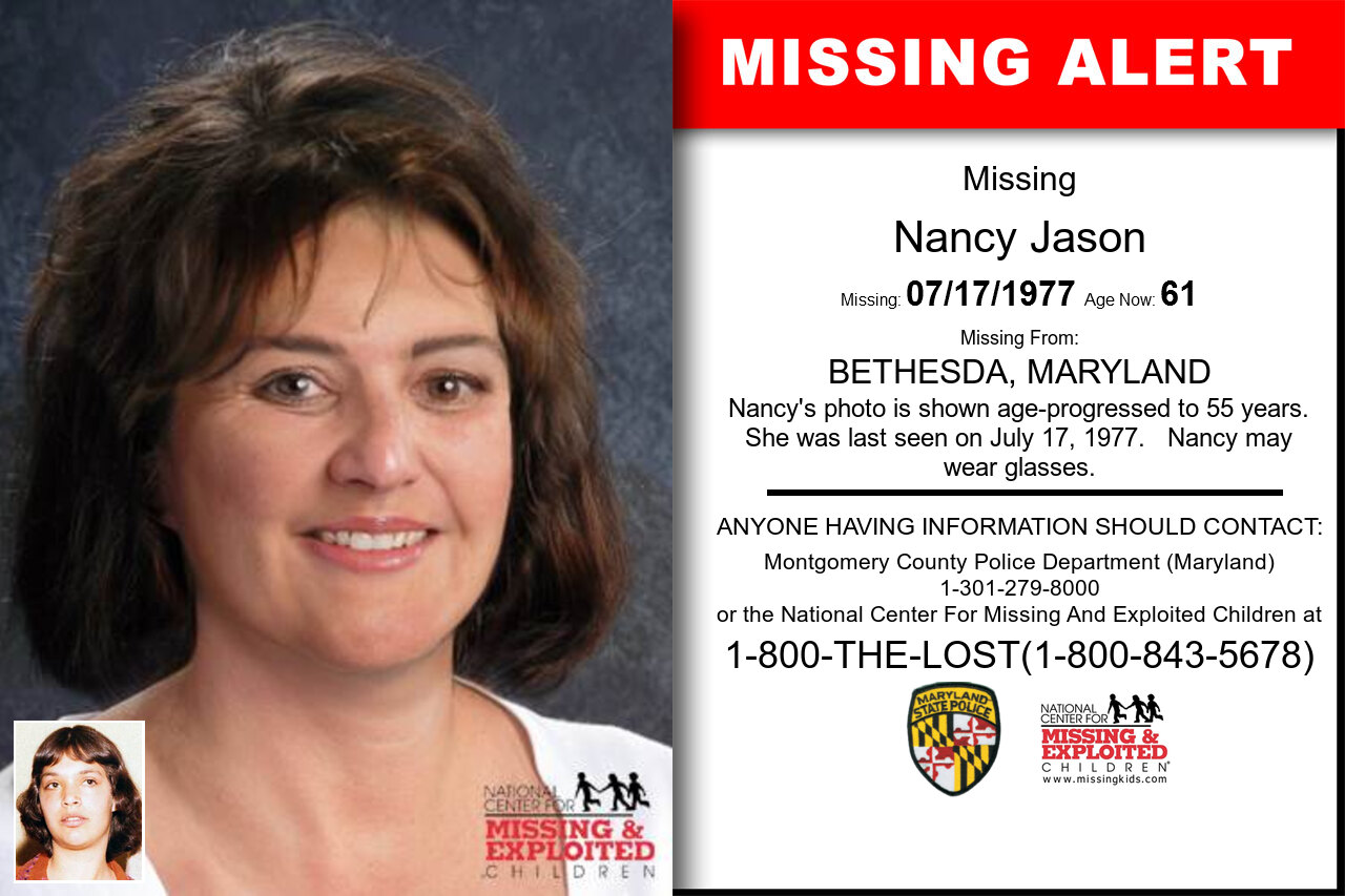 NANCY_JASON missing in Maryland