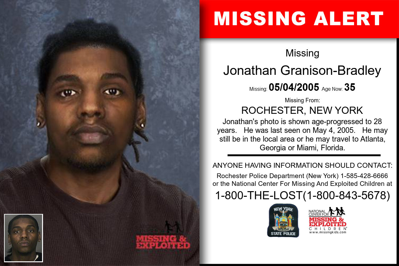 Jonathan_Granison-Bradley missing in New_York