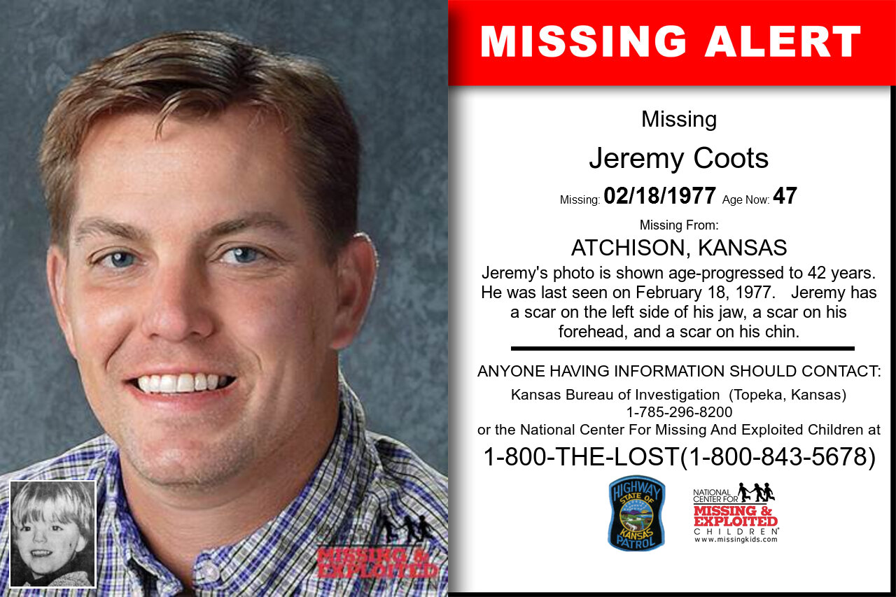 JEREMY_COOTS missing in Kansas