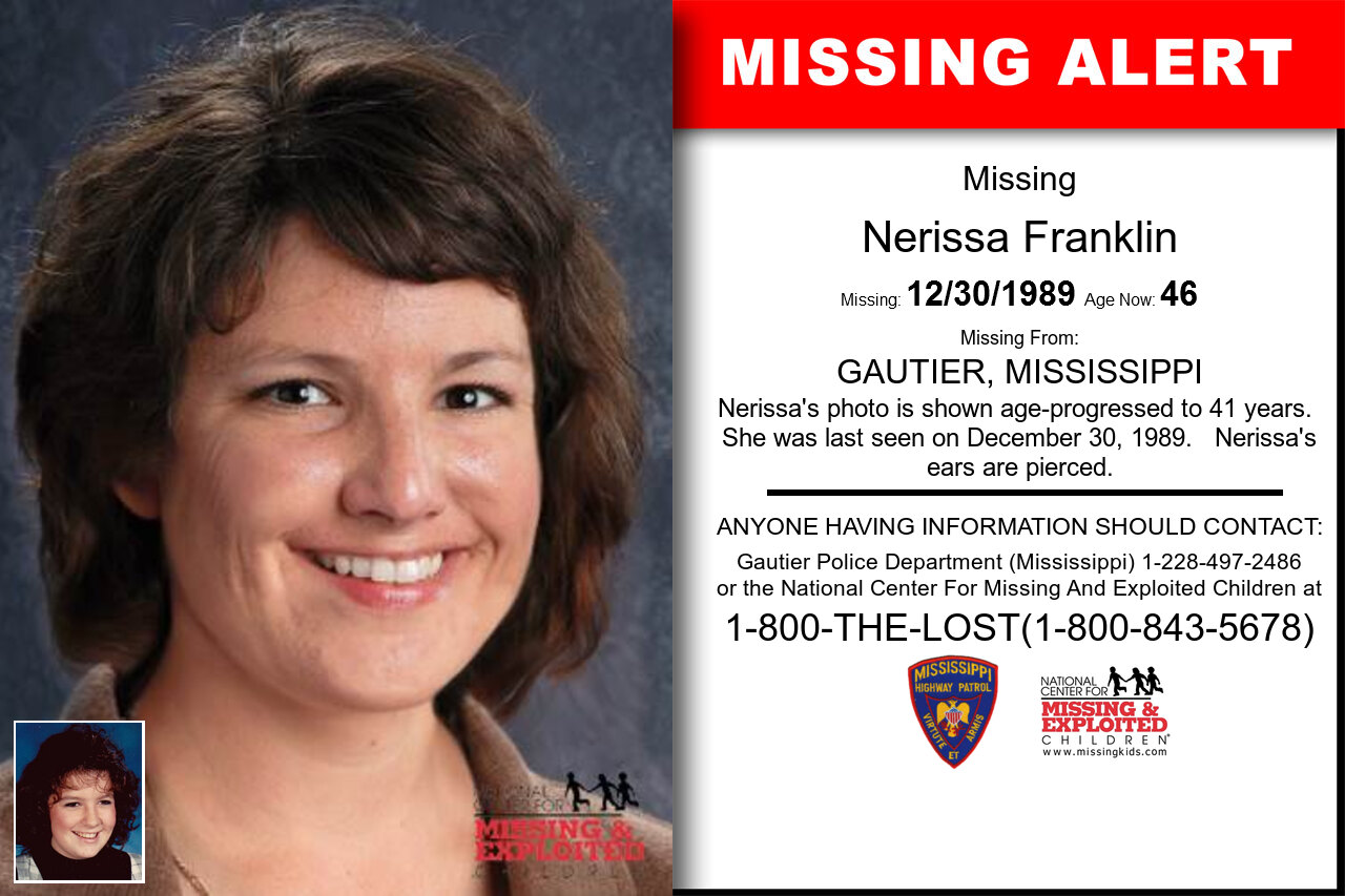 NERISSA_FRANKLIN missing in Mississippi