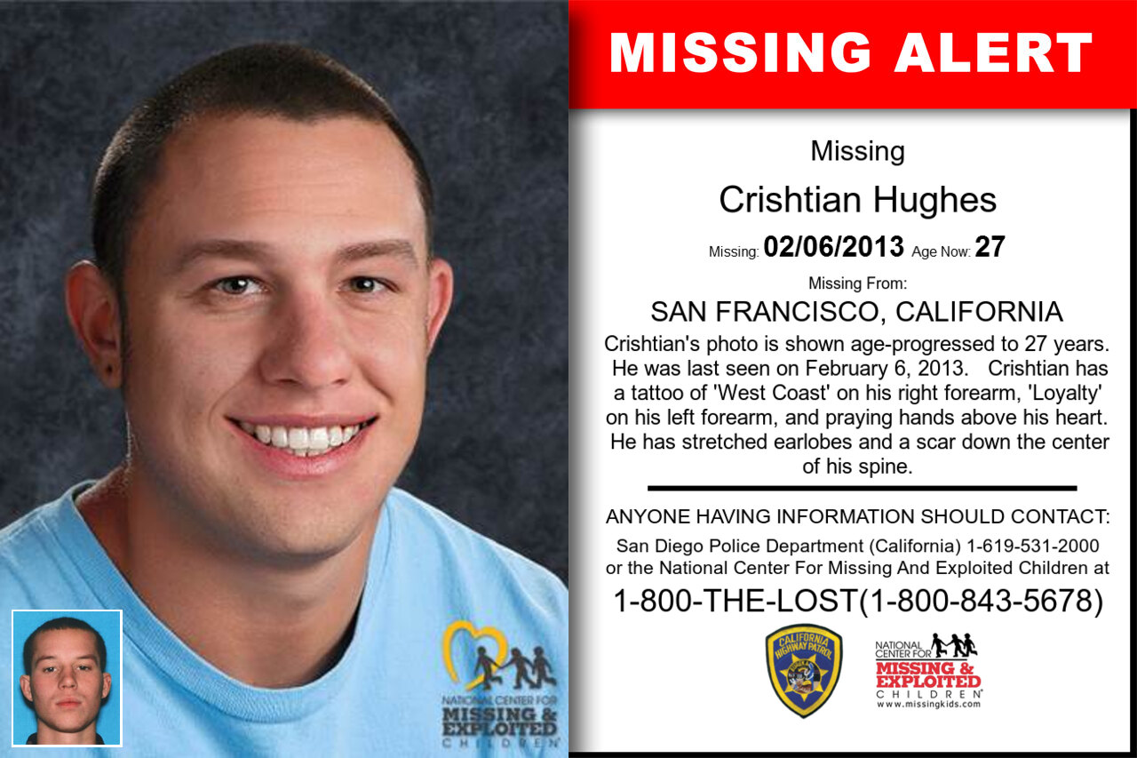 Crishtian_Hughes missing in California