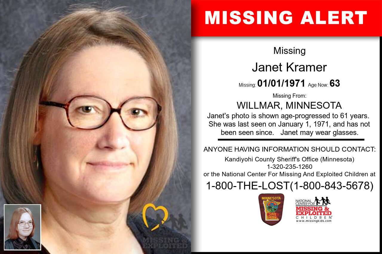 JANET_KRAMER missing in Minnesota