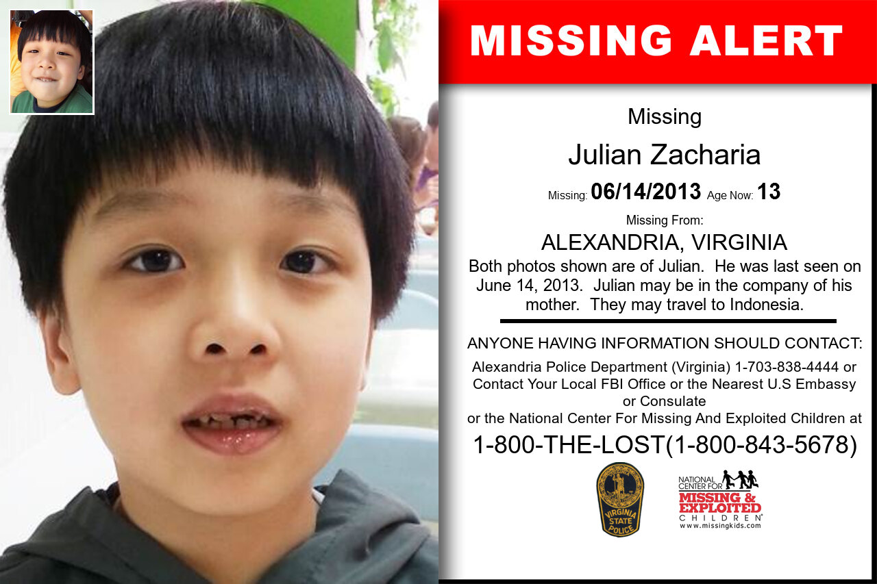 Julian_Zacharia missing in Virginia
