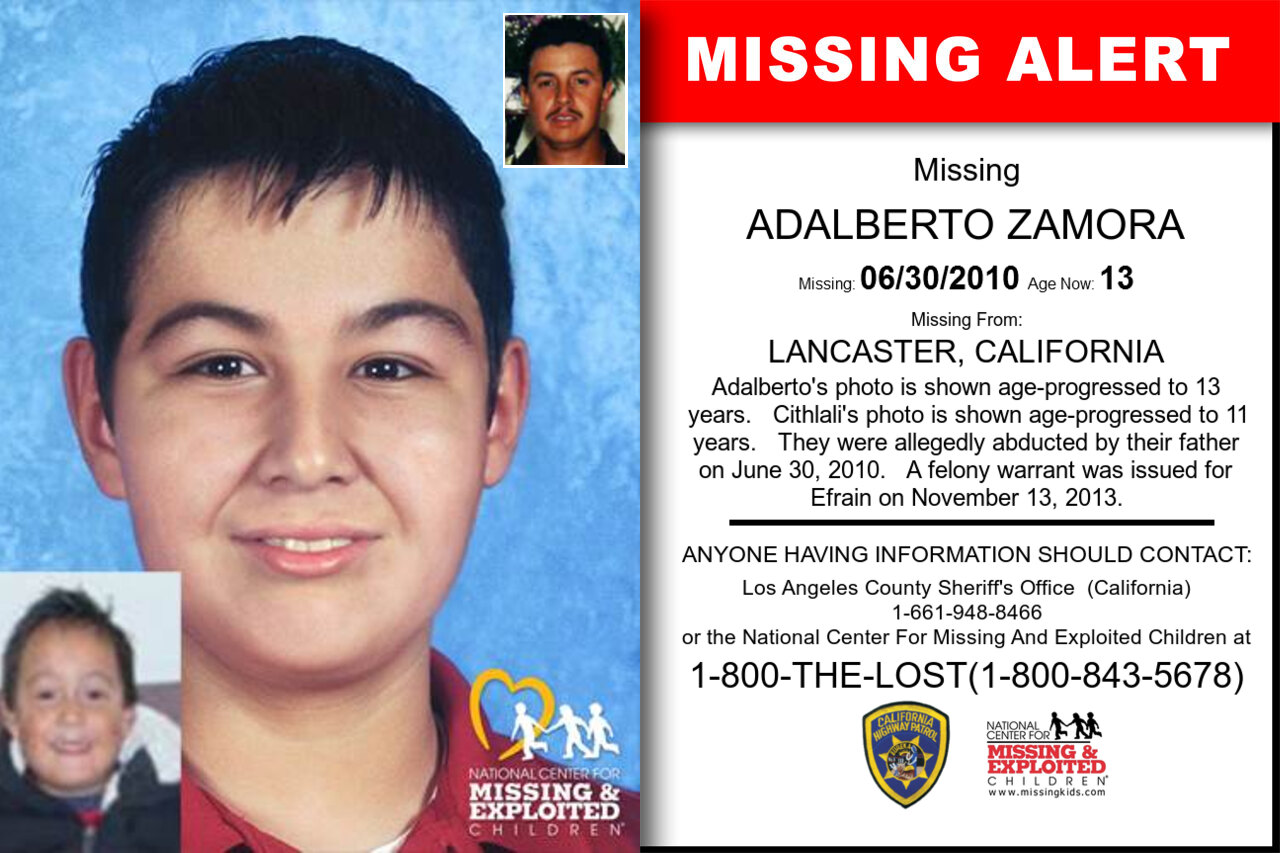 ADALBERTO_ZAMORA missing in California