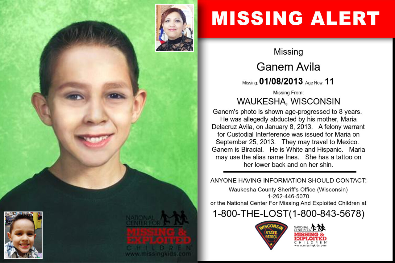 GANEM_AVILA missing in Wisconsin