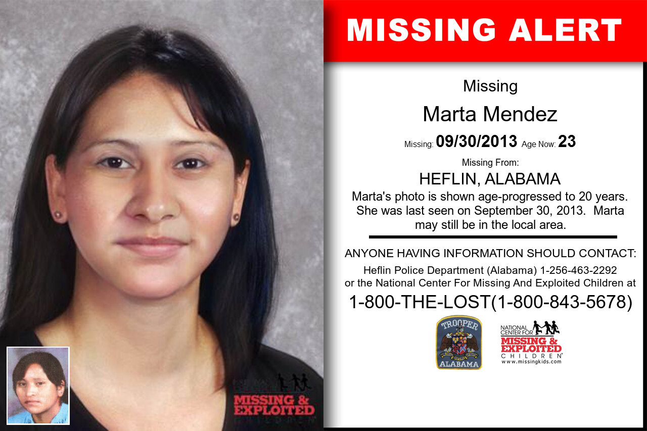 Marta_Mendez missing in Alabama