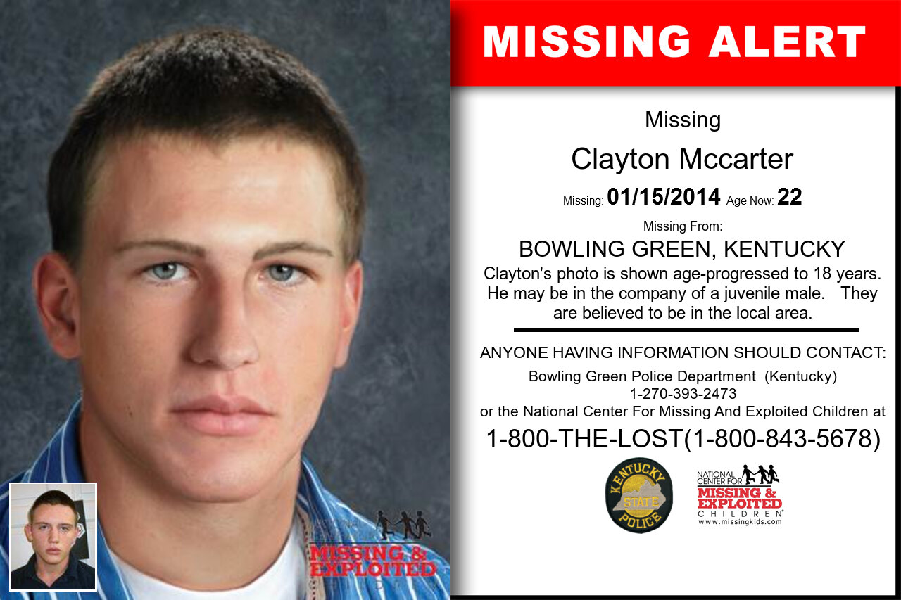 Clayton_Mccarter missing in Kentucky