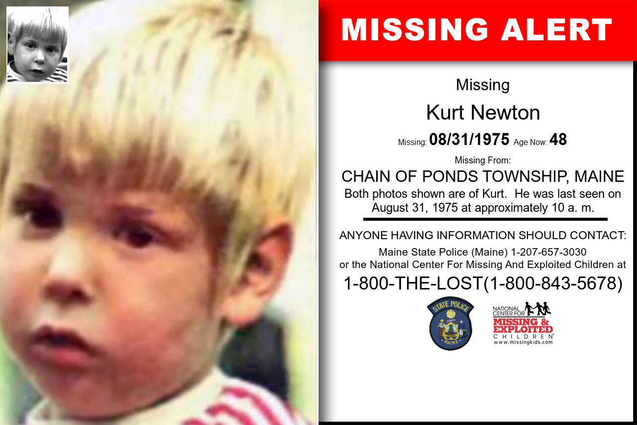 KURT_NEWTON missing in Maine
