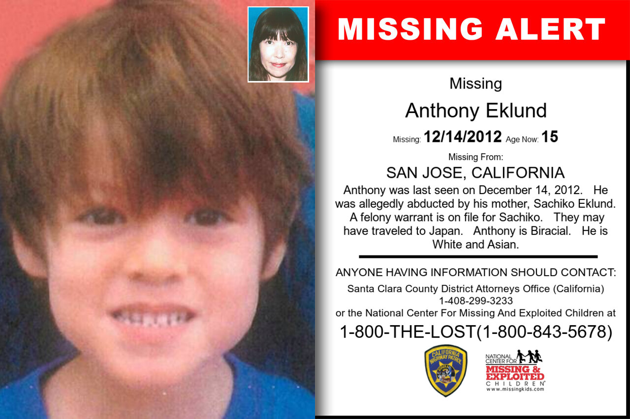 ANTHONY_EKLUND missing in California