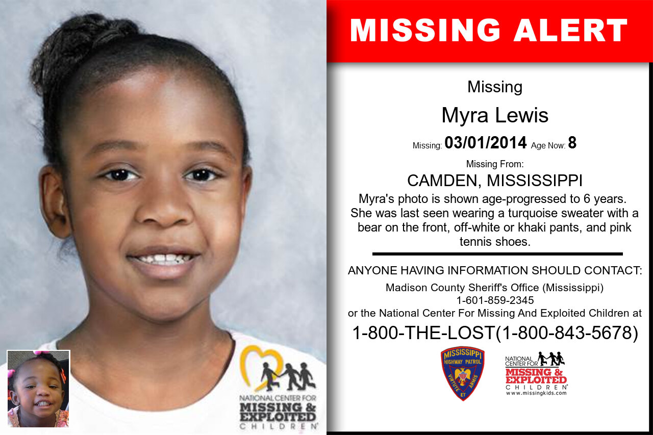 Myra_Lewis missing in Mississippi