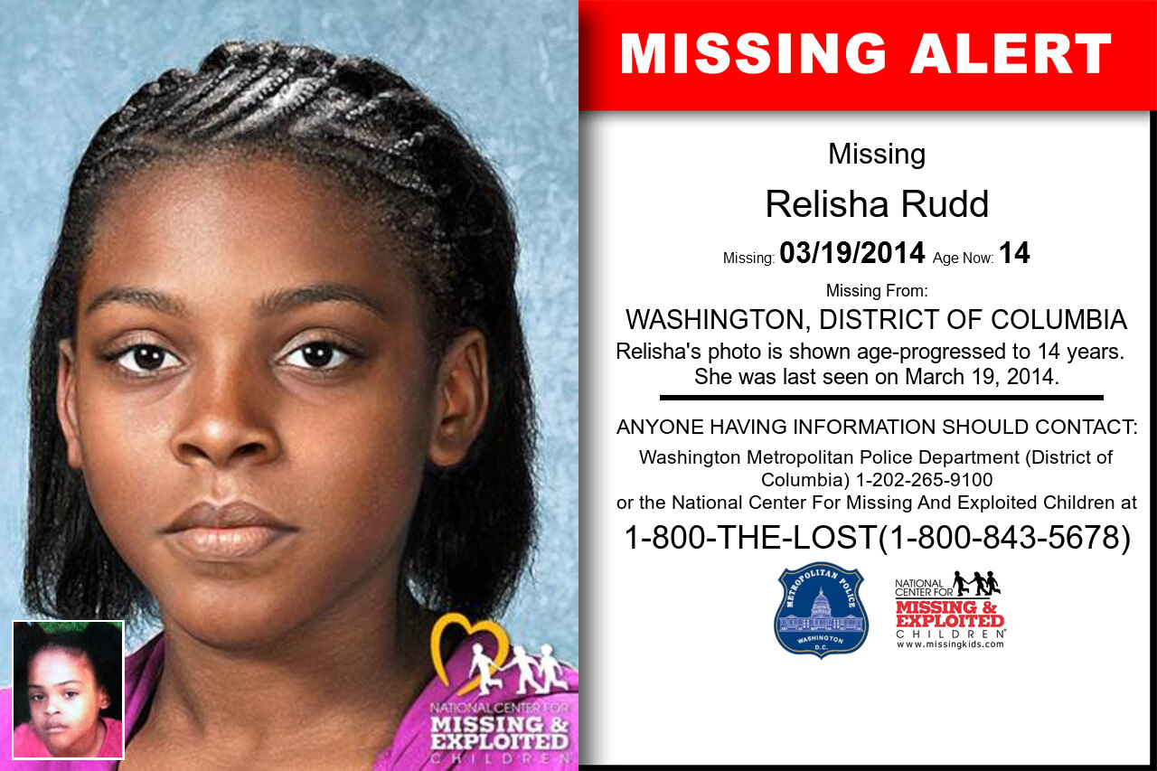 Relisha_Rudd missing in District_of_Columbia
