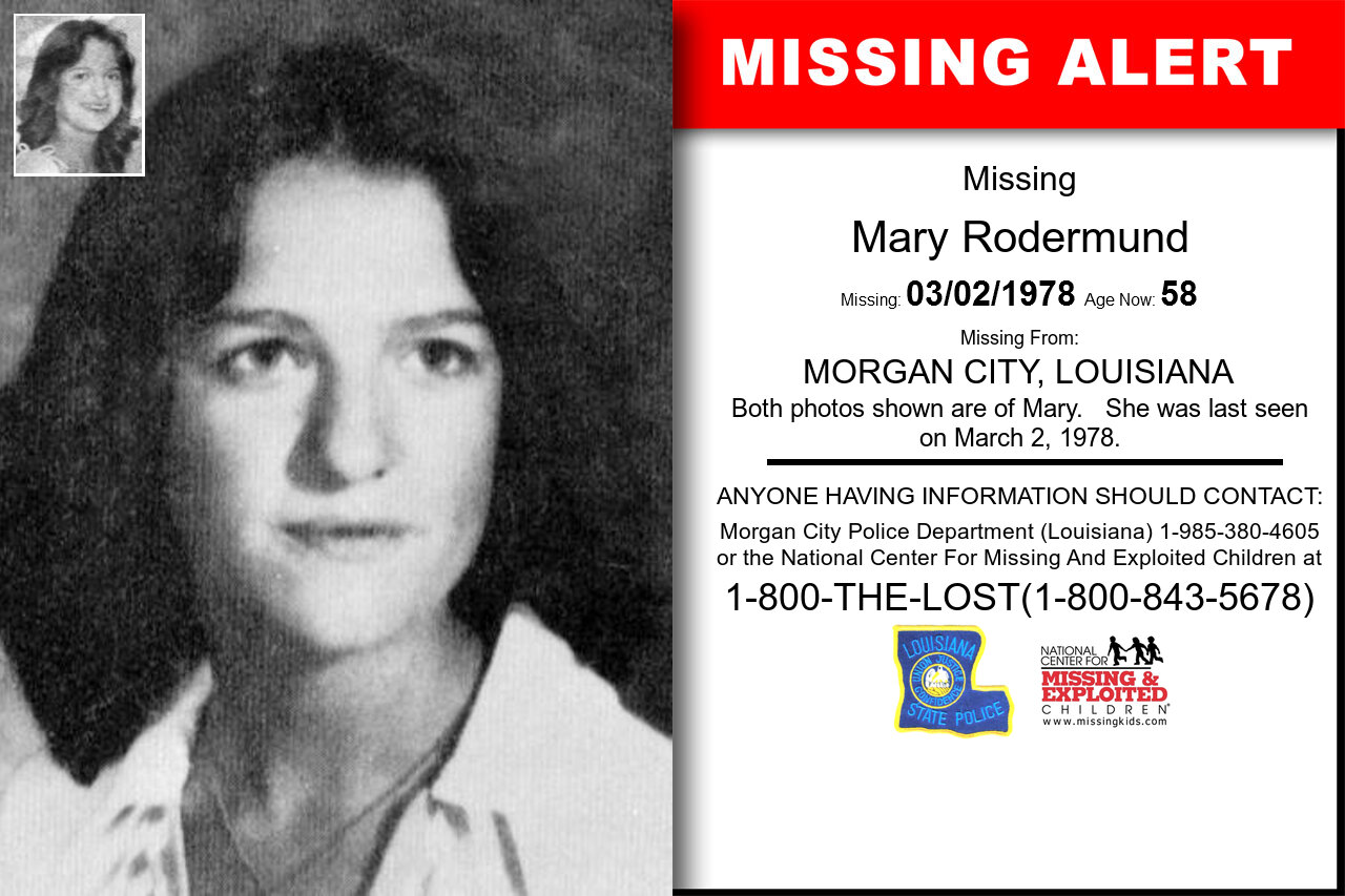 Mary_Rodermund missing in Louisiana