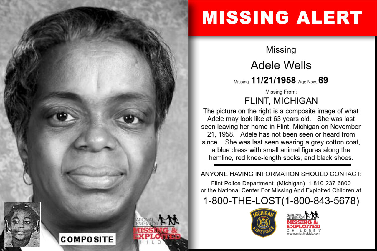 Adele_Wells missing in Michigan